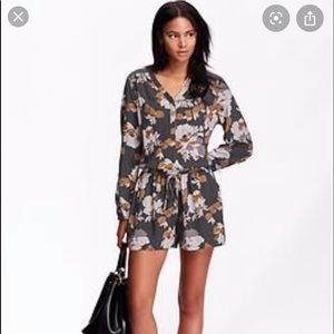 Old Navy Floral Long Sleeve Romper